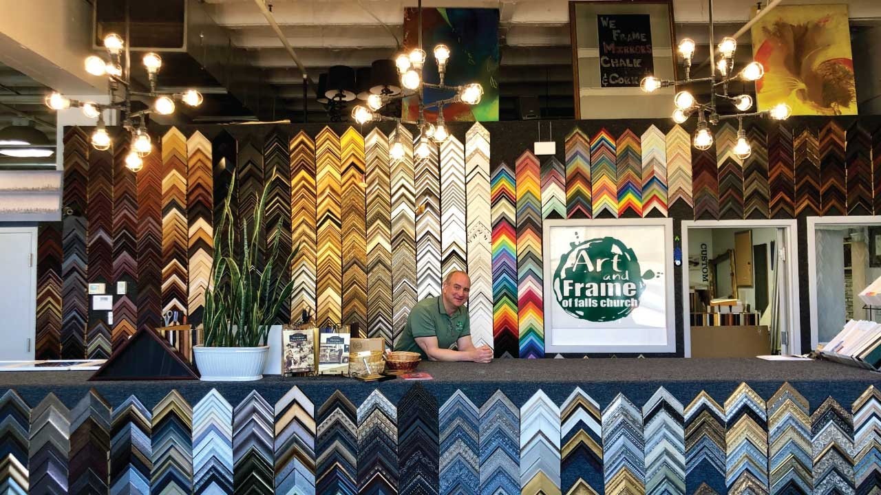 Art and Frame of Falls Church owner Tom Gittins said he prides himself on making his shop a welcoming place for community members.